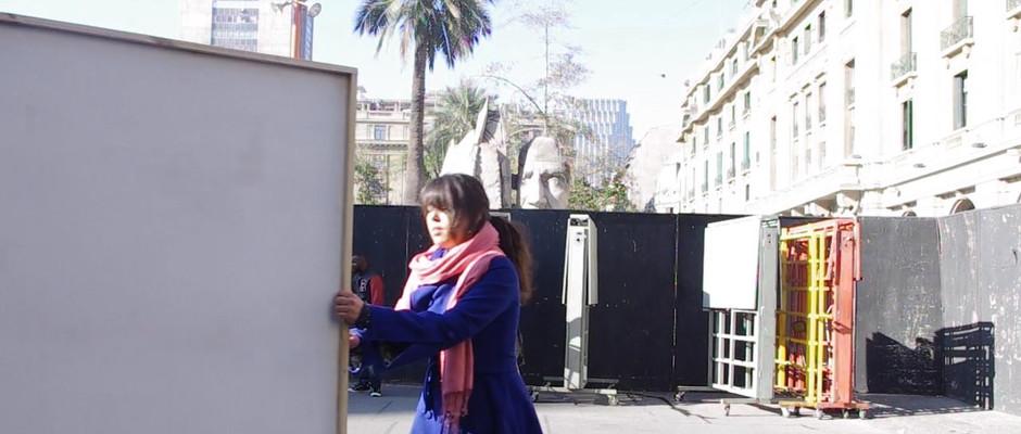 ¿Tu Transitabas Por Aqui?, video documenting interventions in the public space, 13 minutes, 2014.