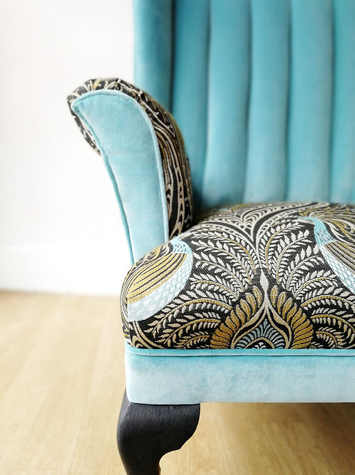 Fluted Peacock Armchair