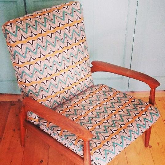 Bristol beginner upholstery student Nata