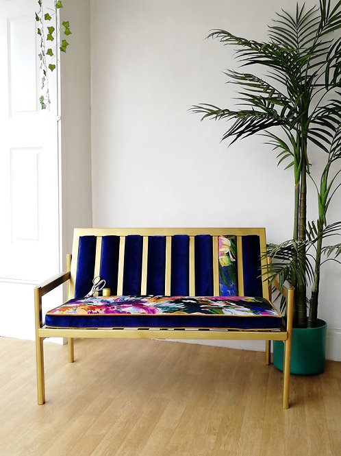 'Money For Nothing' Gold Banquette