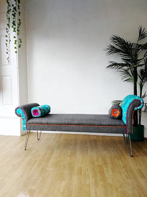 Bespoke Chaise featuring Salon Libertine & Abraham Moon Wool
