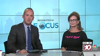 """Mary Jo Colligan on """"Rochester in Focus"""" talking about the Angels of Mercy 5k"""