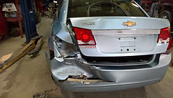 left rear damage