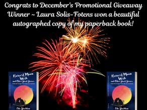 December's Promotional Giveaway Winner!