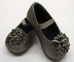 Pewter Ballet Style with Flower