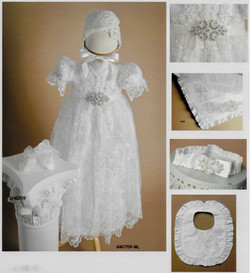 Girl Silk Baptism Outfit