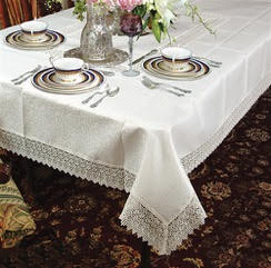 Lace Edged Tablecloth