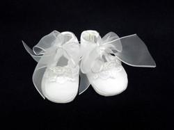 Silk Christening/Baptism Shoe