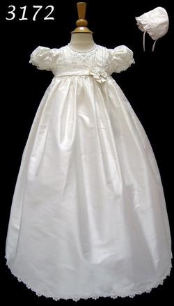 Silk Christening/Baptism Gown