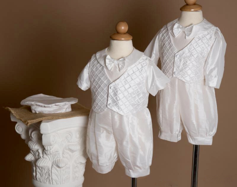 Boys Silk Baptism Outfits