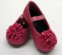 Hot Pink Ballet Style with Flower