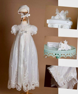 Girl Silk Baptism/Christening Dress
