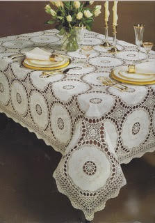 Ivory Lace Tablecloth