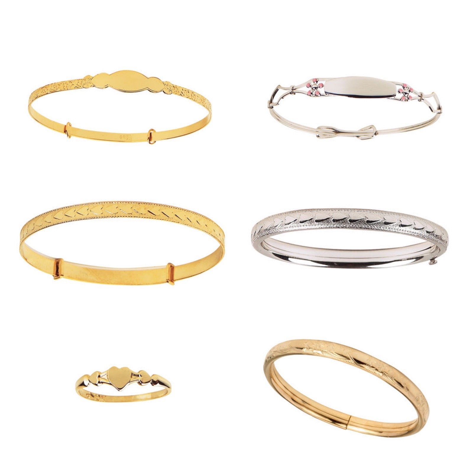 Baby Bangle Bracelets and Baby Ring