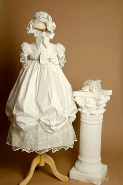 Girl's Silk Christening Gown