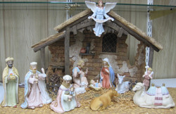 Nativity Set in Pastel Colors