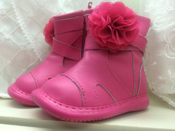Pink Boot with Flower