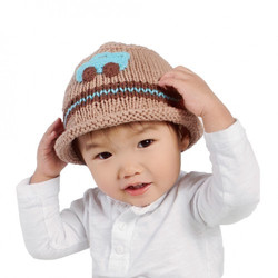 Boy's Knit Hat with Car