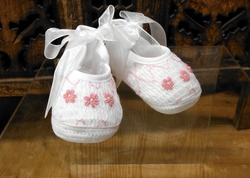 Smocked, Embroidered Shoe