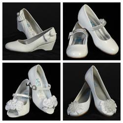 Girls' White Dress Shoes