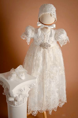 Girl's Silk Lace Christening Gown