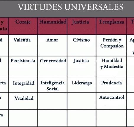 6 Virtudes y 24 Fortalezas