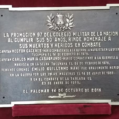 Discurso 50 años egreso Colegio Militar de la Nación.