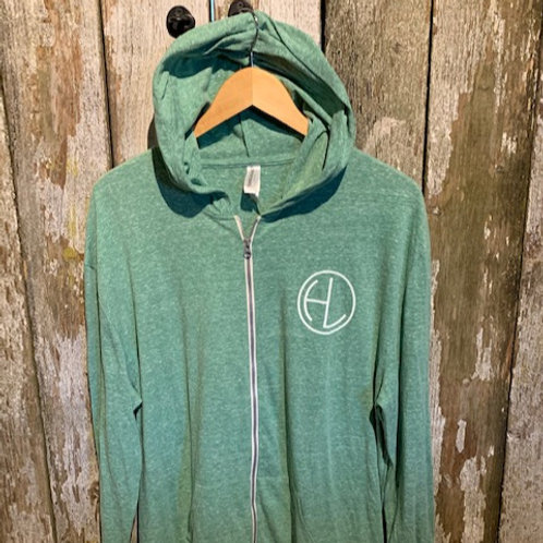 Men's Green/White Zip HL Hoodie