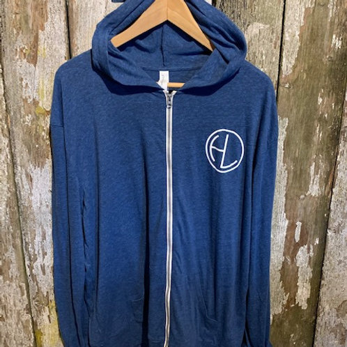 Men's Blue/White Zip HL Hoodie