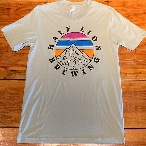 Light Green Half Lion Mountain Graphic Tee