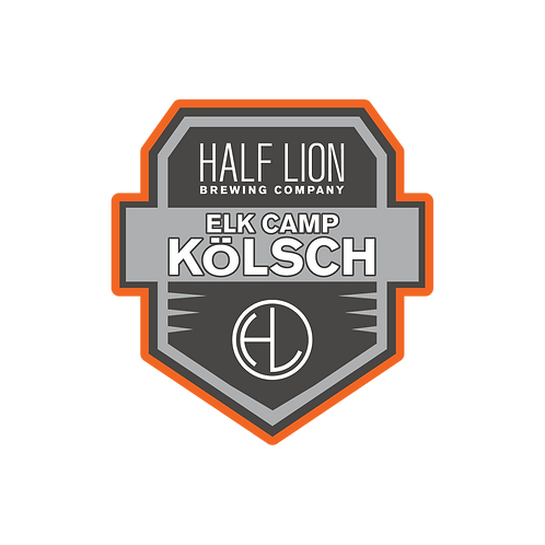 Elk Camp Kölsch Badge Sticker 3""