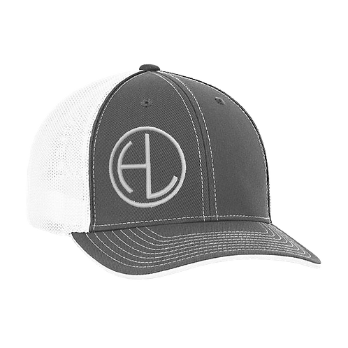 Graphite/White HL Circle Hat