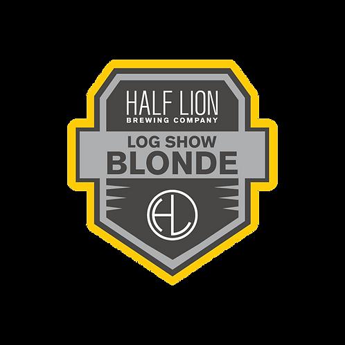 """Log Show Blonde Badge Sticker 3"""""""