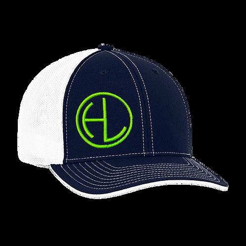 Navy/Green HL Circle Hat