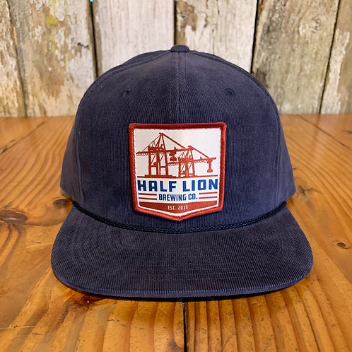 Crane patch on Navy Corduroy hat