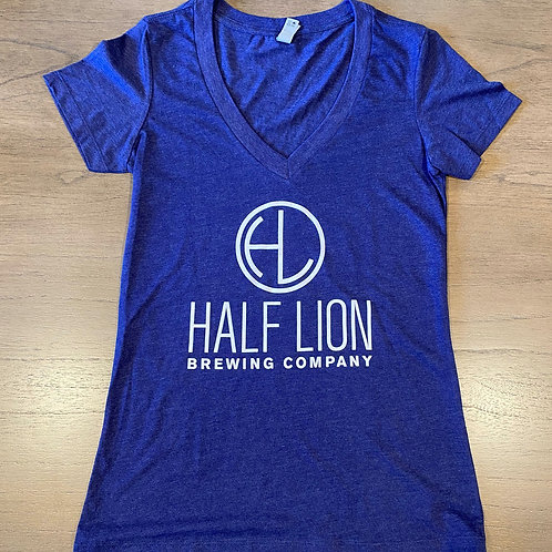 Women's Purple V Neck HL Mountain
