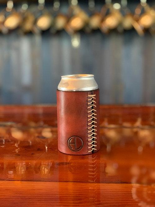 Genuine leather koozie (12 or 16oz beer)
