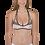 Thumbnail: Find Your Coast Swimwear Reversible Venture Stripe Bikini Top