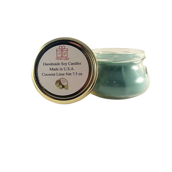 Coconut Lime Soy Wax 7.5 oz Candle