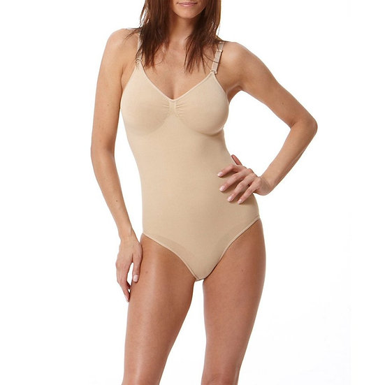 Seamless Bodysuit With Adjustable Straps Nude