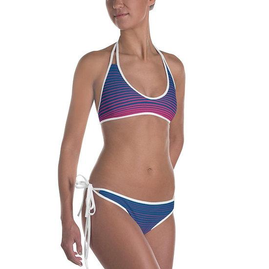 Find Your Coast Reversible Swimwear Coast Stripe Bikini