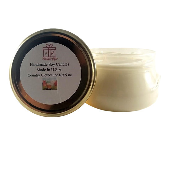 Country Clothesline Soy 9 oz Candle