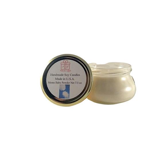 Moms Baby Powder Soy Wax 7.5 oz Candle