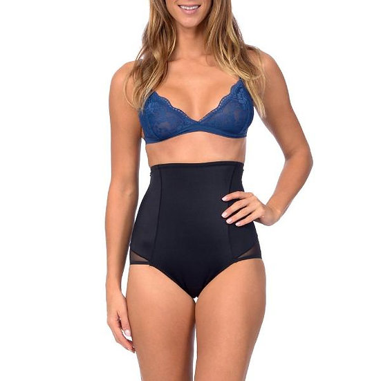 Hi Waist Shaper With Targeted Double Front Panel for Smooth Shaping Black