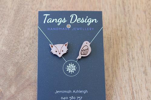 Fox & Lark wooden earrings