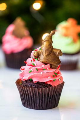 Berry Xmas GF Cupcake