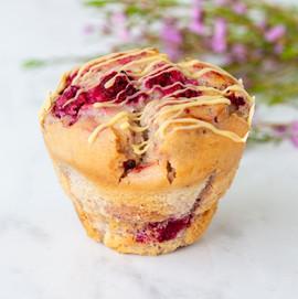 Raspberry White Choc Muffin