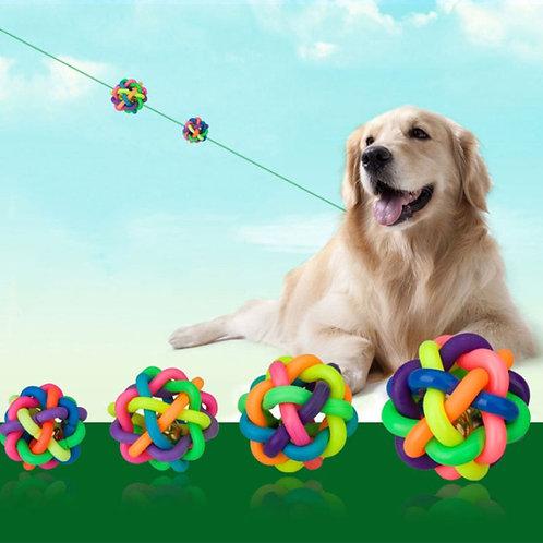 Rainbow Rubber Pet Ball