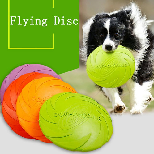 Soft Rubber Flying Disc Fetch Toy
