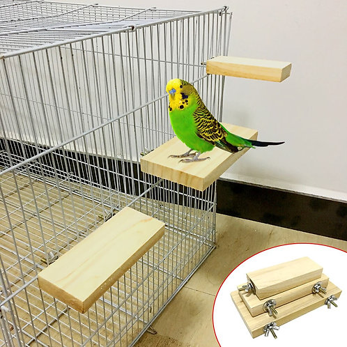 Wooden Perching Ledge for Birds and Rodents
